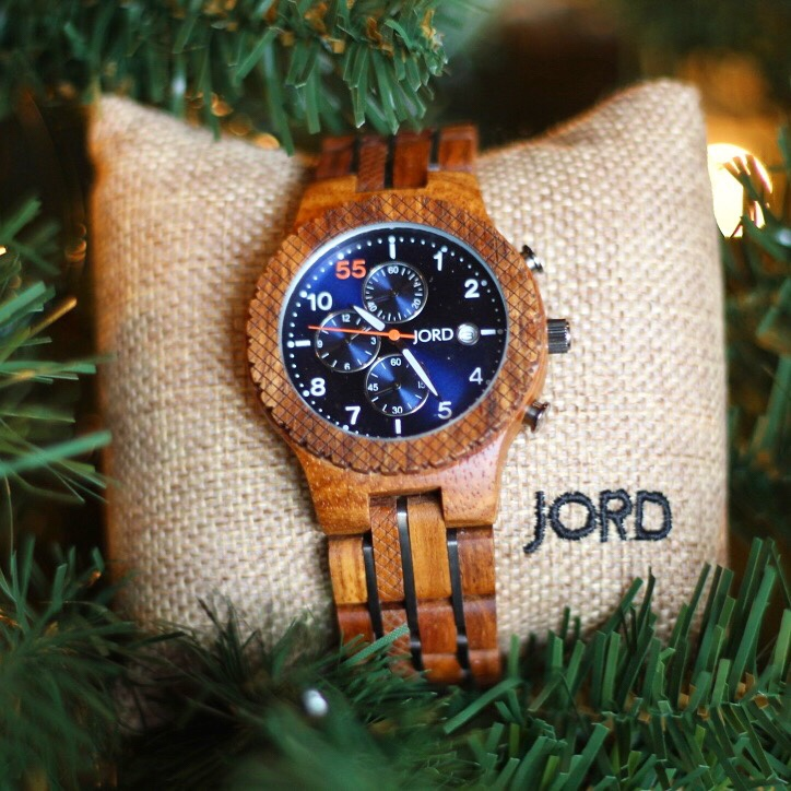 JORD Kosso and Midnight Blue Wood Watch